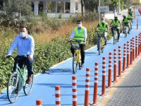 Akhisar'ın ilk bisiklet yolu açıldı!