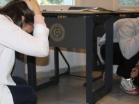 Özel Akhisar Eksen Okullarında deprem tatbikatı yapıldı