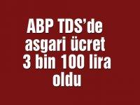 ABP TDS'de asgari ücret 3 bin 100 lira oldu