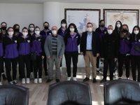 Akhisargücü Kadın Voleybol takımı Başkan Dutlulu'yu ziyaret etti