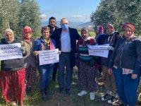 Bakırlıoğlu, 8 Mart'ı çiftçi kadınlarla kutladı