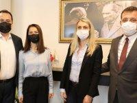 Ekrem İmamoğlu'ndan, Başkan Besim Dutlulu'ya sürpriz ziyaret