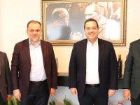 Keskinoğlu'nun yeni ortaklarından Başkan Besim Dutlulu'ya ziyaret