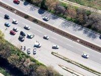 Trafik ihlali yapanlar helikopterden tespit edildi