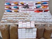 Akhisar'da kaçak tütün mamulleri satışı yapanlara baskın