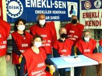DİSK Emekli-Sen; Bayram İkramiyesi adı altında basın açıklaması