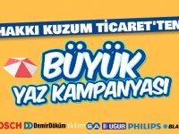 Hakkı Kuzum Ticaret'te büyük yaz kampanyası