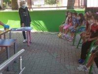 Zehra-Muhittin kavaklı Anaokulu'nda tişört boyama etkinliği