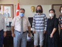 Türkiye birincisi, Kaymakam Vekili Sandıkcı'yı ziyaret etti