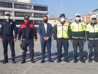 Akhisar'da taşıma servisleri ve sürücüleri denetlendi
