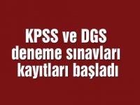 KPSS ve DGS deneme sınavları kayıtları başladı