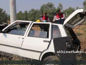 Akhisar Hasköy'de kaza 1 ölü 3 yaralı