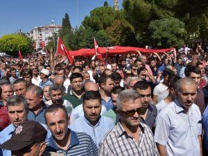 Akhisarlı şehidimiz Jandarma Er Ahmet Tezcan işte böyle son yolculuğuna uğurlandı