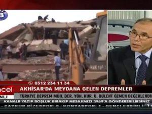 Akhisar'daki depremler için uzman canlı yayında tüm soruları yanıtladı