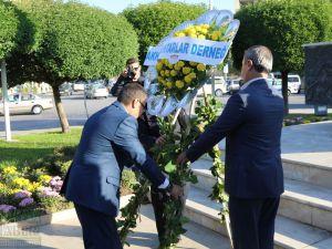 19 Ekim Muhtarlar Günü Milli Egemenlik Meydanı Atatürk Anıtı çelenk sunma programı