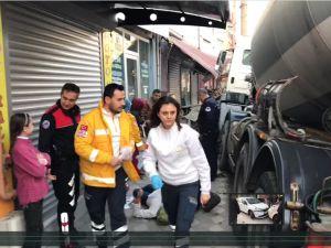 Akhisar Şehir merkezinde feci kaza ucuz atlatıldı
