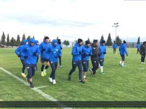 Akhisar Belediyespor, konuk olacağı Gaziantep maçı hazırlıklarına başladı 1 Aralık 2016 idmanı