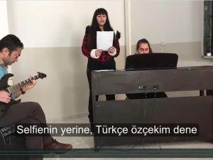 FKAL öğrencileri Türkçe'nin doğru kullanımına dikkat çekti