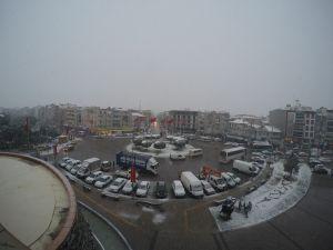 Akhisar'da 10 Ocak 2016 kar yağışı