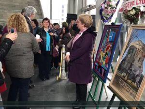 Akhisar Belediyesi Sanat Atölyesi yağlı boya resim sergisi açılış töreni