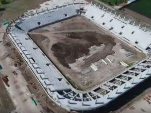 Spor Toto Akhisar Stadyum inşaatında işler iyi gidiyor