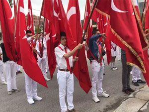 19 Mayıs Atatürk'ü Anma Gençlik ve Spor Bayramı Akhisar Milli Egemenlik Meydanı Çelenk Sunma Programı