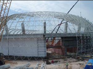 Spor Toto Akhisar Stadyumu inşaatındaki 2 haftalık gelişme böyle kaydedildi