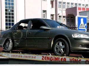 Otomobil, şehrin merkezinde dehşet saçtı