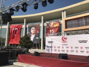 Akhisar Milli Egemenlik Meydanından 15 Temmuz hazırlıkları canlı yayını
