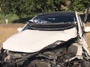 Akhisar Gökçeahmet rampasında kaza; 2 yaralı