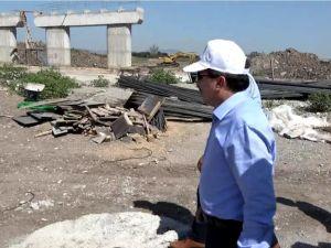 Milletvekili Uğur Aydemir, Akhisar çevre yolu çalışmalarını yerinde inceledi