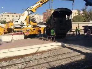Akhisar'ın kara treni taşınıyor