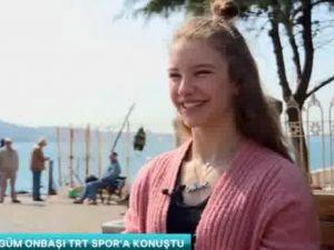 Akhisarlı milli cimnastikçi Ayşe Begüm Onbaşı TRT Spor'un konuğu oldu