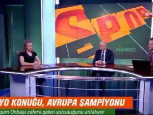 Akhisarlı milli cimnastikçi Ayşe Begüm Onbaşı NTV Spor'da stüdyo konuğu oldu