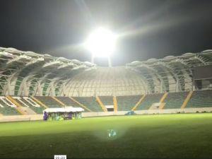 İşte Spor Toto Akhisar Belediye Stadyumu ışıklı iç görünümü