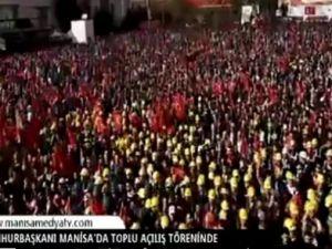 Cumhurbaşkanı Recep Tayyip Erdoğan Manisa'da toplu açılış törenine katıldı