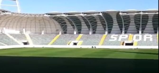 Spor Toto Akhisar Belediye Stadyumunda ilk ses denemesi yapıldı