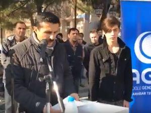 Anadolu Gençlik Derneği Akhisar Temsilciliği Kudüs basın açıklaması