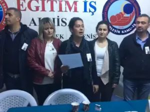 Eğitim-İş başkanı Elif Duran Ergan;Öğretmene Şiddeti Durdurun