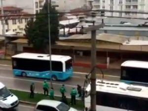 Bursaspor taraftarının Akhisar sokaklarındaki çirkin saldırısı