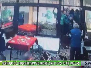 Akhisarspor ile Bursaspor taraftarı arasında çıkan olayda iki kişi yaralandı - Manisa Medya TV