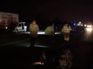 Akhisar'da otomobil ile motosiklet kazası 2 kişi hayatını kaybetti