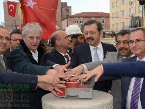 Merkez çarşı canlanıyor projesi temel atma töreni ve Dombaycıoğlu Hanı açılışı