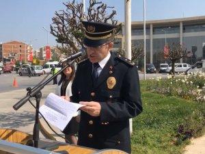 Türk Polis Teşkilatının 173. yılı Akhisar Milli Egemenlik Meydanı Atatürk Anıtı Çelenk