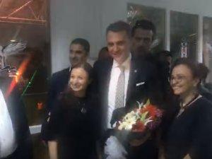 Beşiktaş Başkanı Fikret Orman ın katılımı ile Akhisar Derneği yeni binası açılış töreni