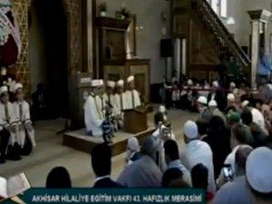 Akhisar Hilaliye Kur'an Kursunda 104 öğrenci hafız oldu