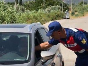 Akhisar'da bayram öncesi Jandarma Güvenlik Güçleri trafik denetimlerini arttırdı