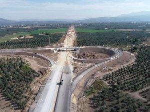 2018 Kasım ayında açılması planlanan Akhisar'dan otobana çıkan yolda son durum