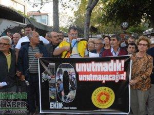 Akhisar'da Ankara katliamını basın açıklamasıyla andılar