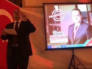 Millet ittifakı Akhisar Belediye Başkan Adayı Besim Dutlulu, projelerini açıkladı